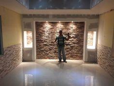 proyects Tv Wall Design, Tv Unit Design, Bed Design, Ceiling Design, House Design, Living Roon, Living Room Modern, Living Room Decor, Gypsum Wall