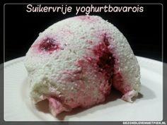 Recept voor heerlijke suikervrije yoghurtbavarois met vers fruit