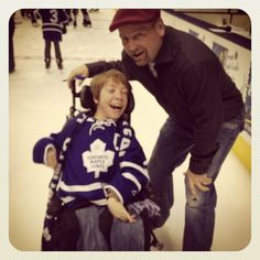 Wendel Clark at the Leafs Skate For Easter Seals Kids