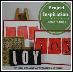 Project Inspiration: Letter Stamps. On the Everyday Moodlings blog.
