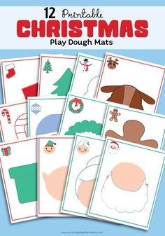 12 free printable Christmas Holiday play dough mats - perfect for toddler & preschool sensory play! Just print, laminate and play! I LOVE how creative these shadows are to fill in your favorite with your favorite Play-Doh colors! Playdough Activities, Christmas Activities, Christmas Themes, Activities For Kids, Christmas Holidays, Christmas Crafts, Crafts For Kids, Student Christmas Gifts, Christmas Planning