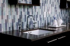 Weave Water Blend Glass Mosaic from WZ