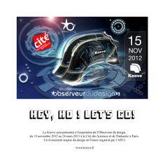 """Inauguration de l'exposition """"Design où es-tu?"""" à la cité des sciences et de l'industrie le 15 novembre 2012."""