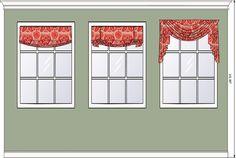 Roman shade, London shade, or swag window treatment