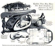 Vintage Teardrop Camper.