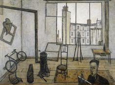 L'atelier, 1947 par Bernard BUFFET  (1928-1999)  #bernardbuffet
