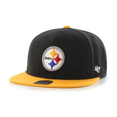 Pittsburgh Steelers Lil Shot Two Tone Captain Black 47 Brand KID Hat 2a700fdda