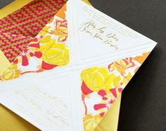 gold foil and bold flowers.