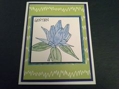 Gins wildflower card 843