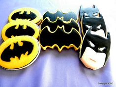 Bat Hero Party Platter Cookie assortment Hand decorated by 3CSC