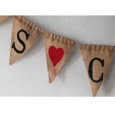 Banderines de tela rusticos personalizados www.celebraunafiesta.es