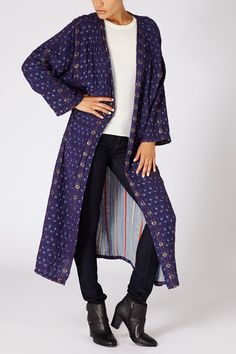 Reversible Duster in Royal and Jubilee
