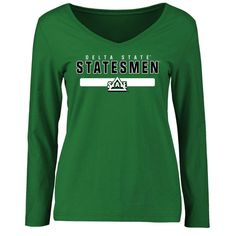 Delta State Statesmen Women's Team Strong Long Sleeve Slim Fit T-Shirt - Kelly Green