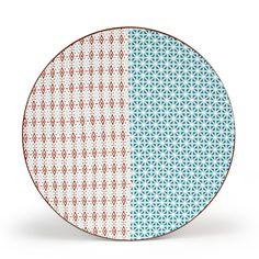 Assiette à dessert Multicolore/Turquoise - Boem - Les assiettes à dessert - Assiettes - Arts de la table - Décoration d'intérieur - Alinéa