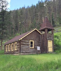 Church at Mystic Trailhead on the Mickelson Trail