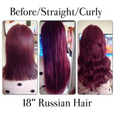 Burgandy Red Hair Extensions