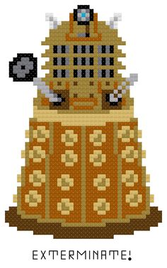 Exterminate Cross Stitch Pattern PDF by HappyCupcakeCreation, $3.00