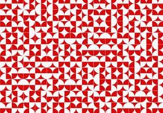 By arbitrarily rotating each tile, the breaking of the pattern becomes the pattern itself. Inspired by the tiles of Athos Bulcão Tribal Patterns, Tile Patterns, Print Patterns, Unique Tile, Stop Light, Tile Art, Geometric Designs, Easy Workouts, Surface Design
