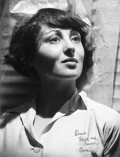 Luise Rainer (1910-December 30, 2014), in a portrait by George Hurrell. She was the first actress to be awarded consecutive Best Actress Academy Awards, for 1936's THE GREAT ZIEGFELD and 1937's THE GOOD EARTH. She was Jewish, born in Düsseldorf, and died in London at age 104.