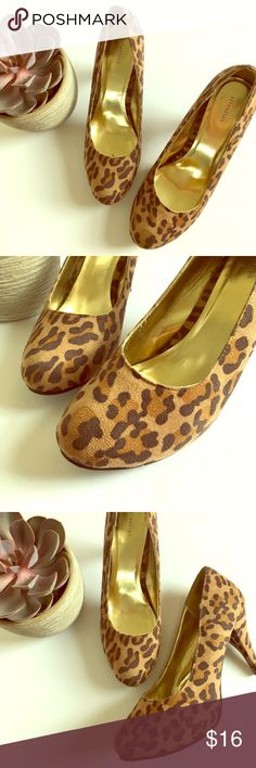⭐️Attention Cheetah Print 4 1/2 Inch Heels Size 11 ⭐️Attention Cheetah Print 4 1/2 Inch Heels Size 11. Great condition. Perfect for business wear. Next day shipping. All sales are final. Attention Shoes Heels