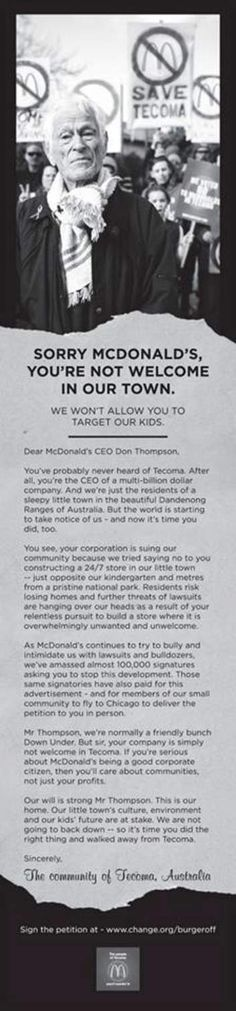 Tecoma Ad in the Chicago Tribune, September 13, 2013. Picture taken from Facebook.