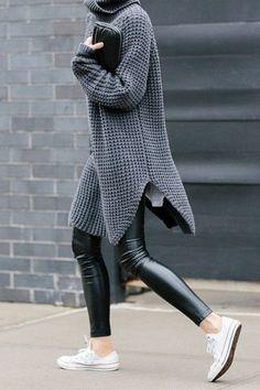 38 mejores imágenes de Outfit Leggins Piel | Pantalones de