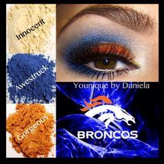 Love that I can sport my Younique mineral pigments while supporting the Broncos! Broncos Colors, Younique Eyeshadow, 3d Fiber Lashes, Eyeshadow Looks, Beauty Routines, Makeup Addict, Makeup Cosmetics, How To Look Pretty, Beauty Hacks