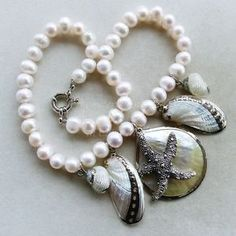 collana di conchiglie pokonaso | Dettagli su Collana di perle naturali bianche con conchiglie e stella ...