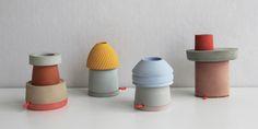 Table Towers - Marta Bakowski _ Design & research Earthenware, Stoneware, Design Research, Ceramic Materials, Shape And Form, Contemporary Ceramics, Ceramic Design, Bathroom Styling, Material Design