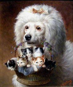 Carl Reichert - Poodle y sus amigos.