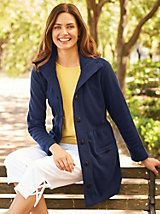 """So soft and comfortable. Really love this coat."" ~ Happy customer on our Chic Fleece Jacket from Blair Cute Jackets, Jackets For Women, Clothes For Women, Women's Jackets, Fashion Catalogue, Lightweight Jacket, Vest Jacket, Lounge Wear, Feminine"