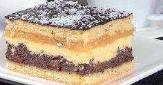 Makový  koláč  s  jablkami Slovak Recipes, Czech Recipes, Mexican Food Recipes, Sweet Recipes, Cake Recipes, Dessert Recipes, Polish Desserts, Polish Recipes, Hungarian Cake