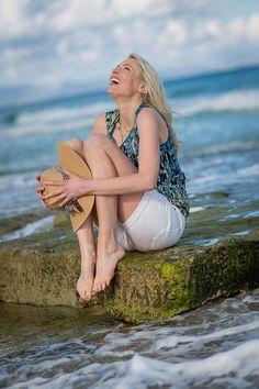 Elischeba bei ihrem Shooting am Strand mit Hardy Krönert auf Fuerteventura