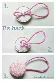 Tie back hair