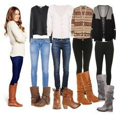sweaters & boots.