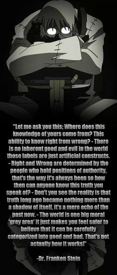 Franken Stein quote from Soul Eater