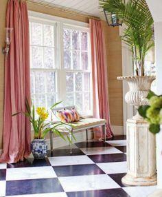 pink velvet for front room?