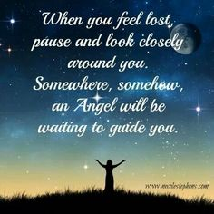 Stop and look around... there are angels everywhere.