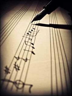 Writting the melody of your life with a partition....Compose your life with specific movements, beats and emotions