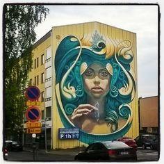 #katutaidetta #Kemissä #streetart at #Kemi #Lapland #Finland #mural #wallart, #toiminmuraalinvartijana.... #muraali #graffiti #urbanart. Satu, Mural Wall Art, Urban Art, Finland, Graffiti, Future, Photography, Instagram, City Art