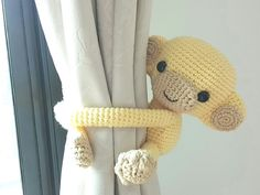 Monkey curtain tie back ♥