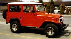 I restored this 1971 Toyota Land Cruiser FJ40. It had a Chevy 350 V8. Loved it!
