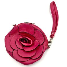 Rose Flower Pink Purse Bag With Strap Girls Ladies Party Dress Up Zip Up Money Party Dresses For Women, Ladies Party, Girls Accessories, Bag Sale, Hand Bags, My Ebay, Saddle Bags, Zip Ups, Coin Purse