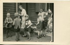 ON SALE Bunch of little cuties on stage: old 1930s snapshot of