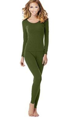8dd12d1df4cee1 Women's Thermal Underwear Set Top & Bottom Fleece Lined at Amazon Women's  Clothing store: