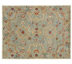 Leslie Persian-Style Rug, potterybarn.com  699 for an 8x10. I love the colors on this but would prefer a round for the nook