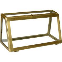 Skøn glasmontre - fint enkelt look Shimmer N Shine, Brass Material, Recycled Wood, Scandinavian Style, Woods, Recycling, Display, Rustic, Cabinet