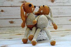 Crochet Bunny, Crochet Toys, Golden Glitter, Childhood, Teddy Bear, Facebook, Happy, Handmade, Belle