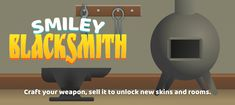 Smiley Blacksmith ( $49) Smiley Blacksmith is an exciting Game Template. Craft your weapon by touch anywhere on screen to fill the progress metre. #smileyblacksmith #unitysourcecode #cybermonday #blackfriday #gametemplate #weapongame New Skin, Blacksmithing, Cyber Monday, Smiley, Unity, Black Friday, Weapons, Fill, Coding