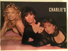 Charlie's Angels Farrah Fawcett Kate Jackson Jaclyn Smith 1994 reunion photo-shoot for 'People' magazine all in black dresses